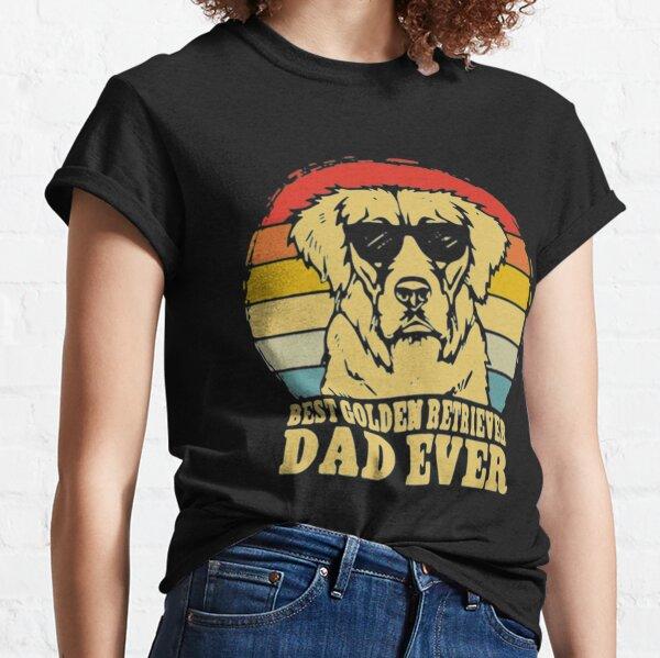 Best Golden Retriever Dad Ever Vintage Classic T-Shirt