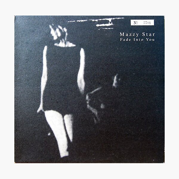 Mazzy Star, fade Into you Alternative Cover in Black and White Photographic Print