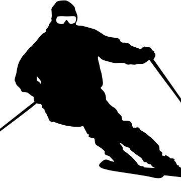 Skiing by madphotoart