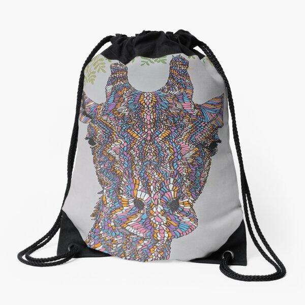 Shabby Chic Giraffe! Drawstring Bag