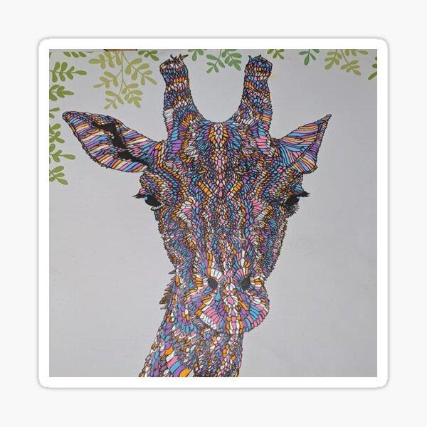 Shabby Chic Giraffe! Sticker