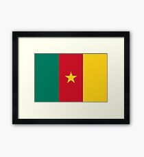 Green Red and Gold Flag of Cameroon with Star Framed Print