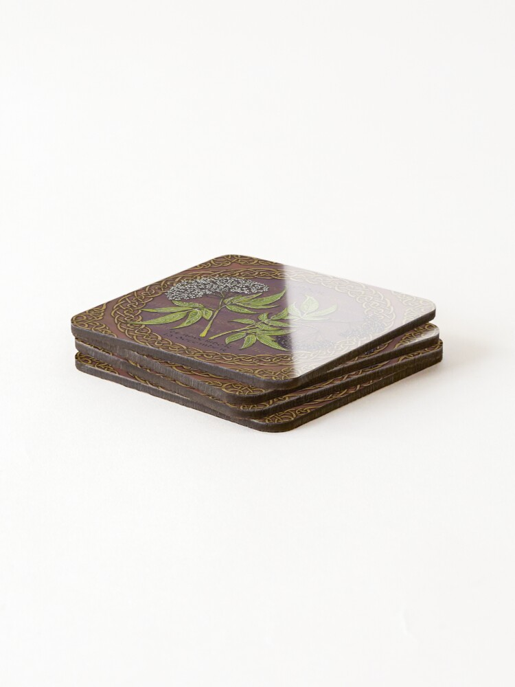 Alternate view of Celtic Tree Calendar Elder Coasters (Set of 4)