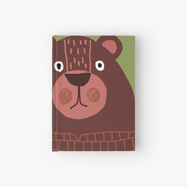 A BROWN TEDDY BEAR Hardcover Journal