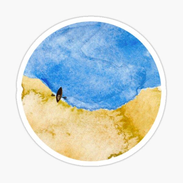 Beach from above. Sticker