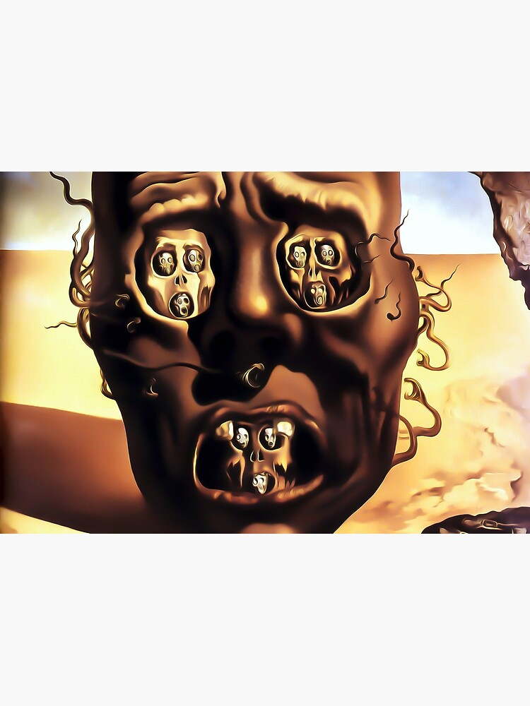 Salvador Dali The Face of War (The Visage of War) 1940 Artwork for Wall Art, Prints, Posters, Tshirts, Men, Women, Kids by clothorama