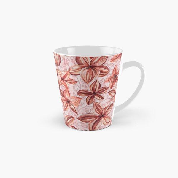 Aloha hand painted fabric - coral light Tall Mug