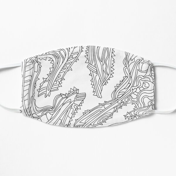 Wandering Abstract Line Art 26: Black & White Mask