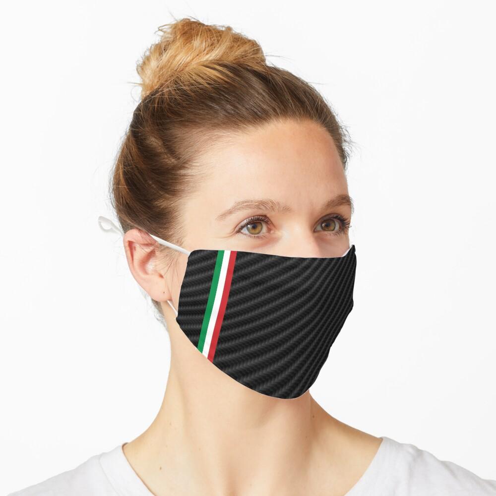 Masque «Fibre de carbone de voiture de course italienne»