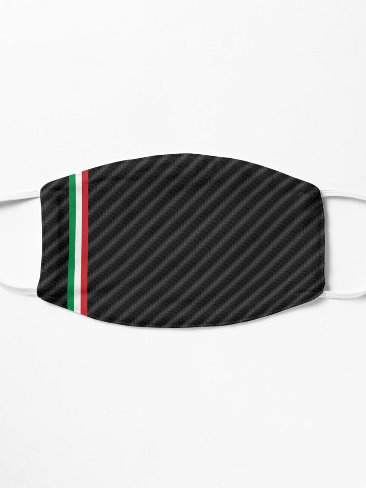 Masque ''Fibre de carbone de voiture de course italienne': autre vue