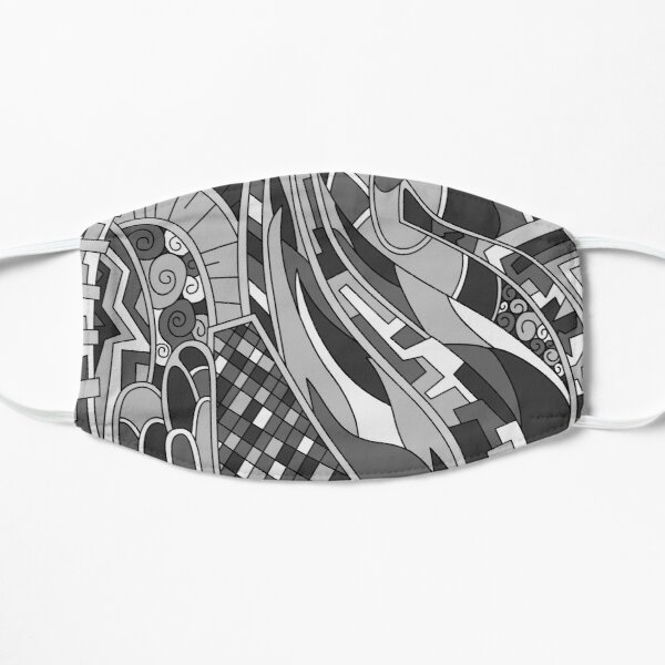 Wandering Abstract Line Art 31: Grayscale Mask