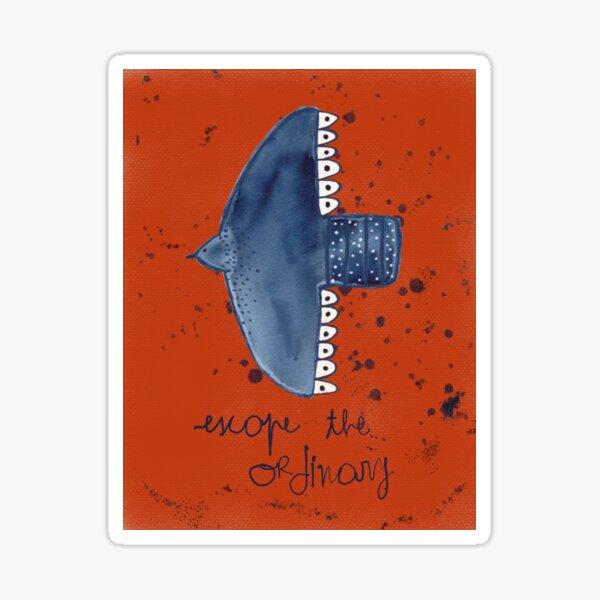 Escape de Ordinary mindful poster Sticker