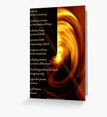 To Dream - the image Greeting Card