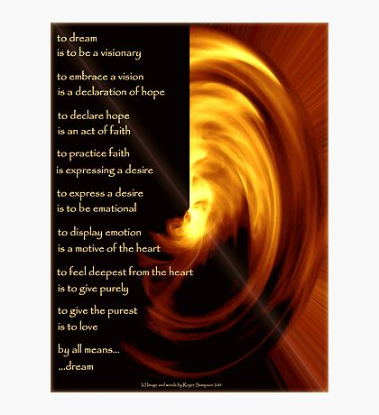 To Dream - the image Photographic Print