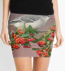 Northern Mockingbird and berries Mini Skirt