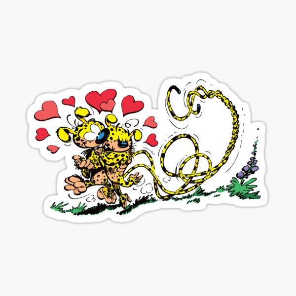 Marsupilami amoureux Sticker