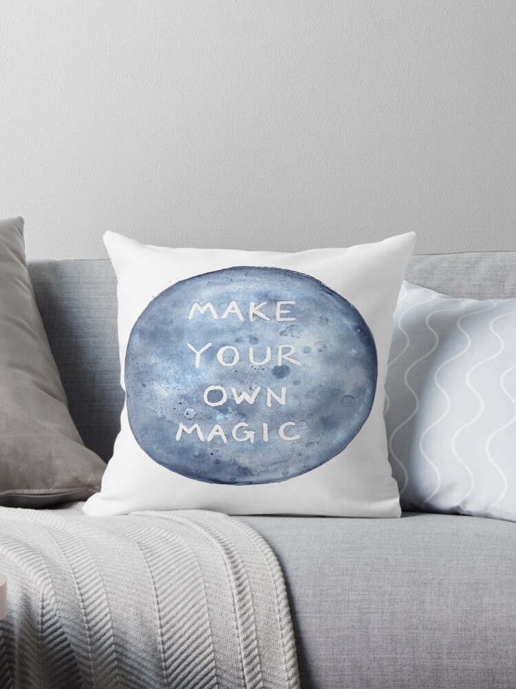 make your own magic throw pillows by dk productions redbubble