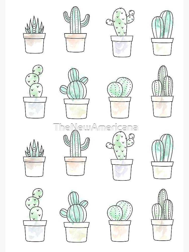 watercolor cacti by TheNewAmericana