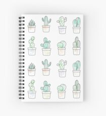 watercolor cacti Spiral Notebook