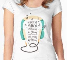 The Wrong Words Women's Fitted Scoop T-Shirt