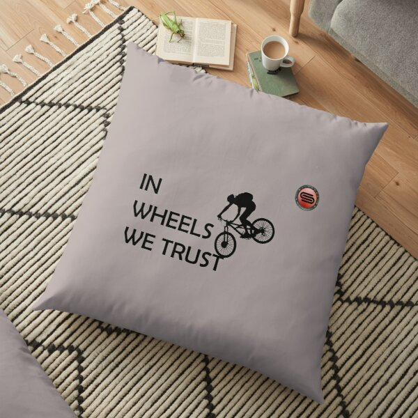 cyclostock - IN WHEELS WE TRUST (black) Floor Pillow