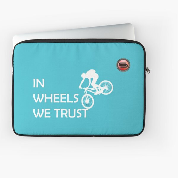 cyclostock - IN WHEELS WE TRUST (white) Laptop Sleeve