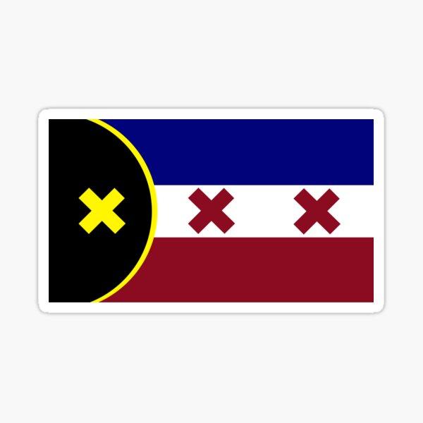 L'Manburg Flag Minecraft MCYT Youtubers Sticker