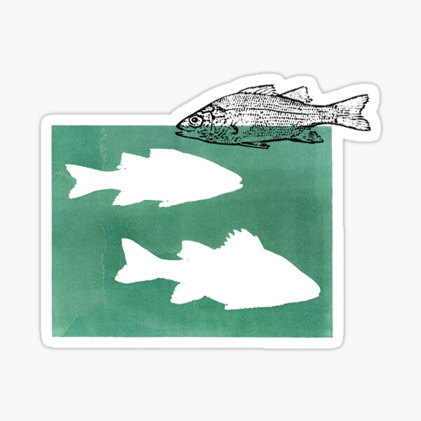 White Perch #2 Sticker