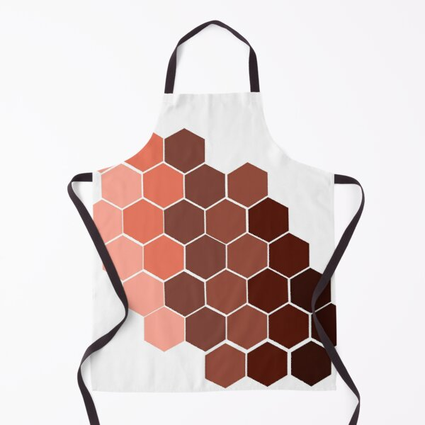 Hexagon Metallic Gradient Apron