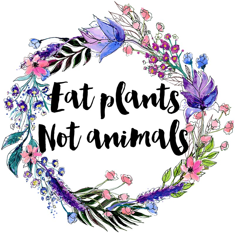 """""""Eat Plants Not Animals """" Stickers by ohdeer   Redbubble"""