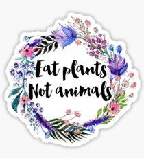 Eat Plants Not Animals  Sticker