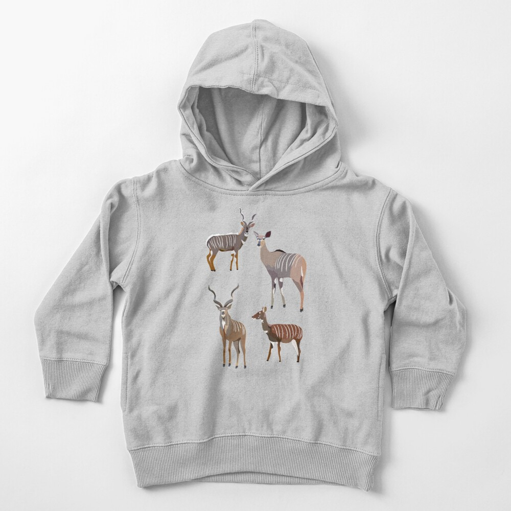 K is for Kudu Toddler Pullover Hoodie