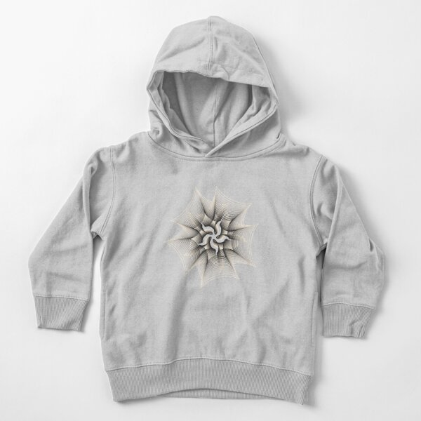 Abstract Monochrome Flower Toddler Pullover Hoodie