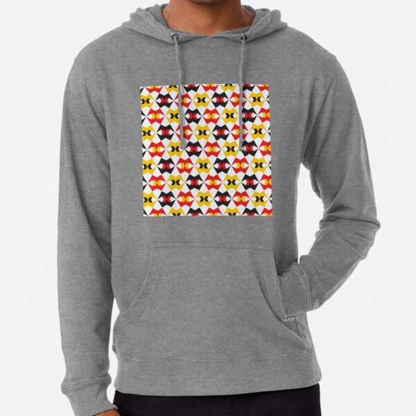 Geometric Pattern 180 (yellow red black) Lightweight Hoodie