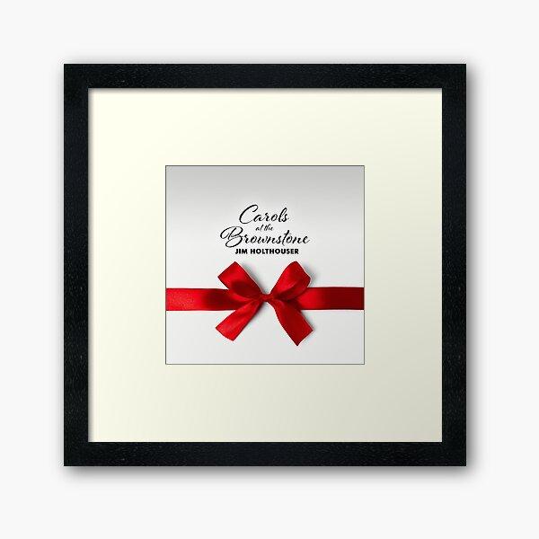 Carols at the Brownstone Framed Art Print