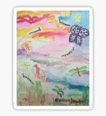 Caterpillar Sky Sticker