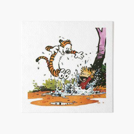 calvin, hobbes, calvin hobbes, calvin and hobbes, 2710 Art Board Print