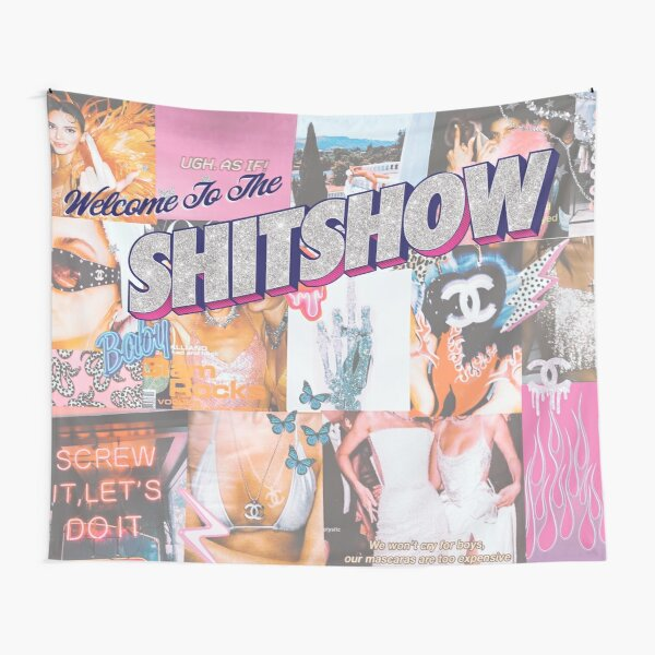 Welcome to the Shitshow Collage Tapestry