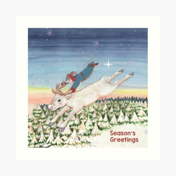 Magical Christmas Eve Art Print