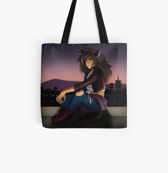 Casual Catra on the rooftop All Over Print Tote Bag