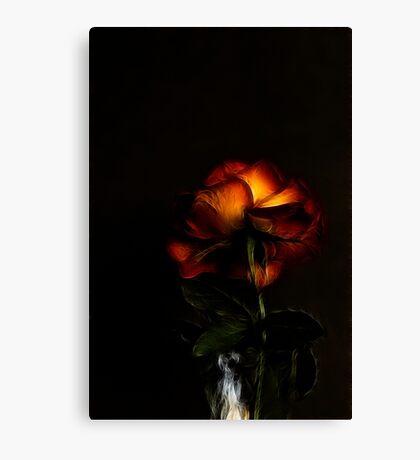 Love In (Rose) - Fractalius Canvas Print
