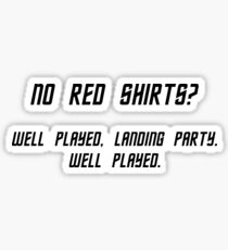 No Red Shirts? Sticker