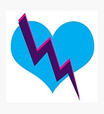 Tri-color heart Photographic Print