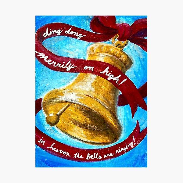 Christmas Bell Photographic Print
