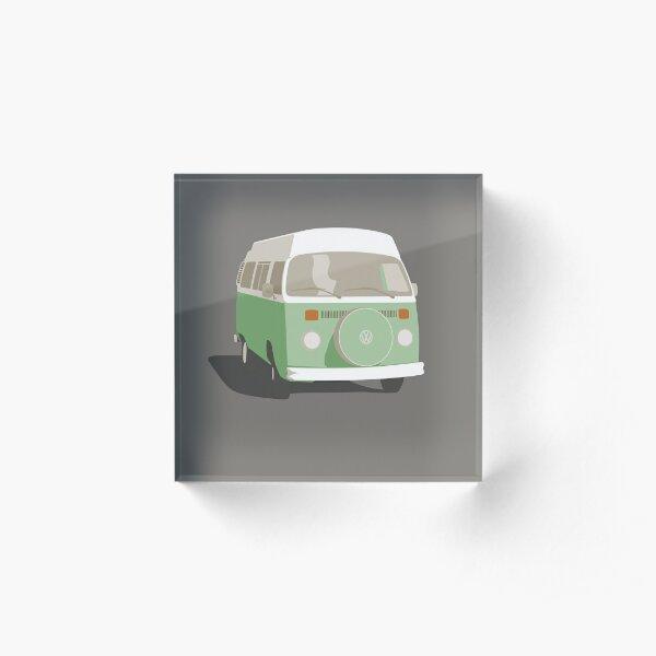 Campervan Nile Green Acrylic Block