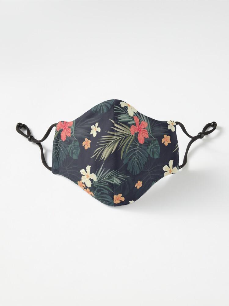 Alternate view of Dark tropical flowers Mask