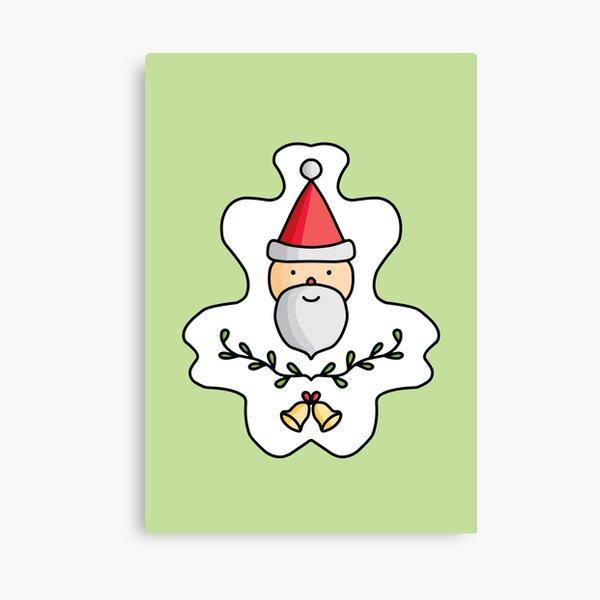 Cute Cartoon Santa Claus, christmas season Canvas Print