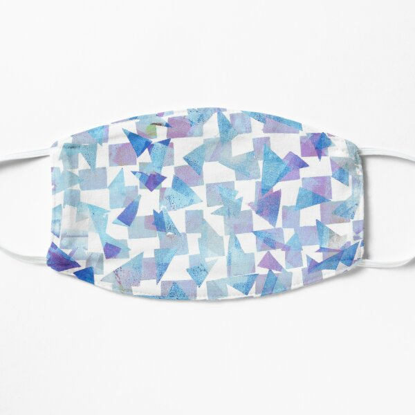 Abstract Blue and Purple Print #1 Flat Mask