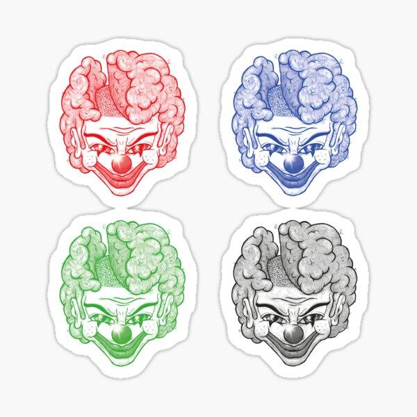 Maniac Clown Sticker-Set Sticker