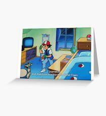 Ash Ketchum Greeting Card